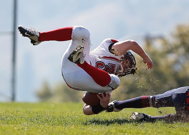 スポーツ選手の激しい動き