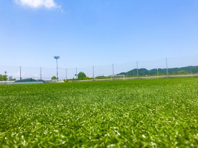 サッカー試合会場