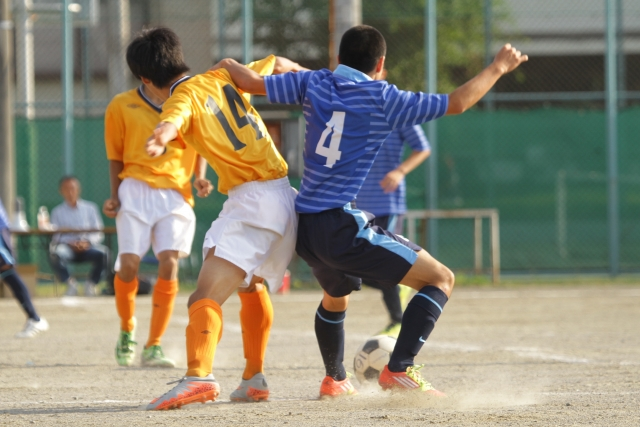 サッカーの試合