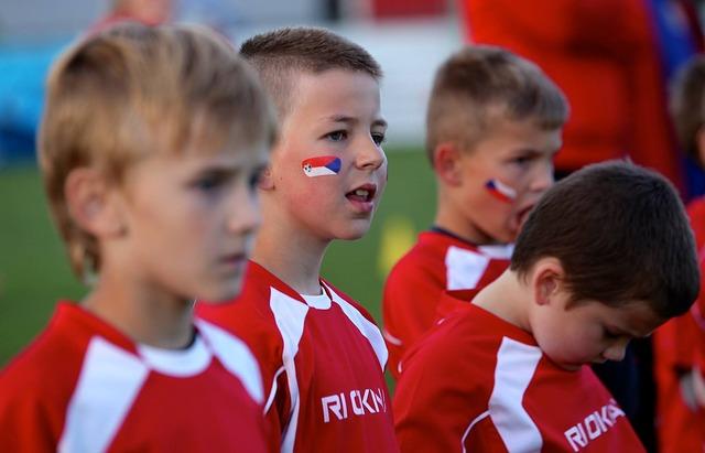 スポーツ少年団の子供達