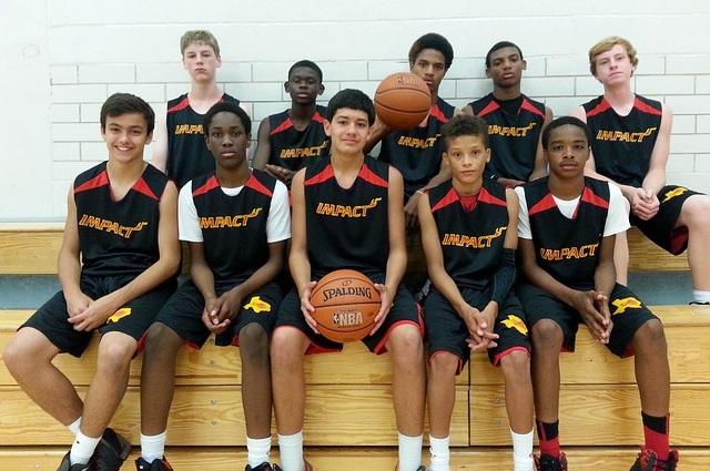 バスケットボール部の記念撮影