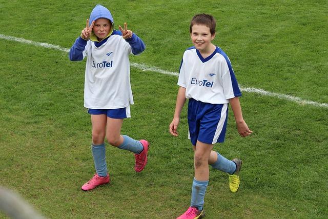 スポーツをする子供達