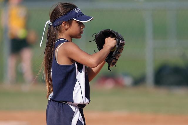 スポーツをする女の子